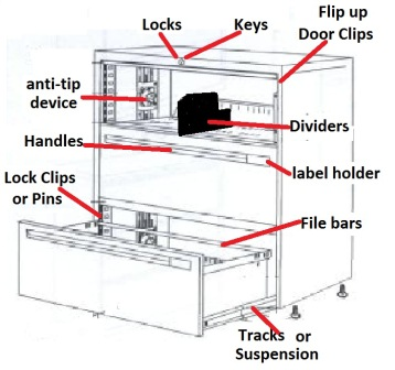 filing cabinet locks and keys '